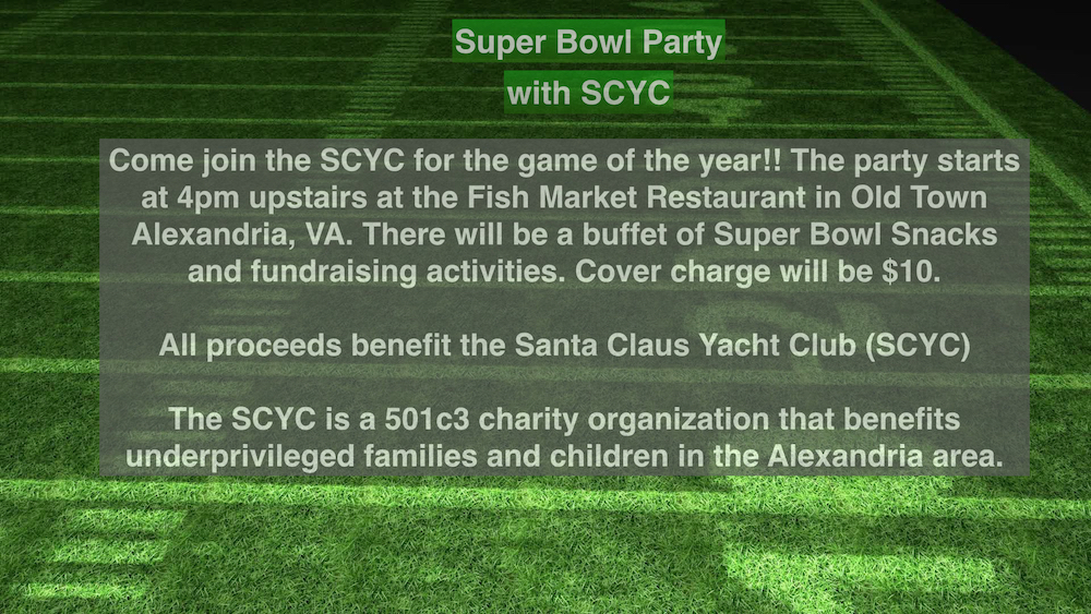 SCYC Super Bowl Party